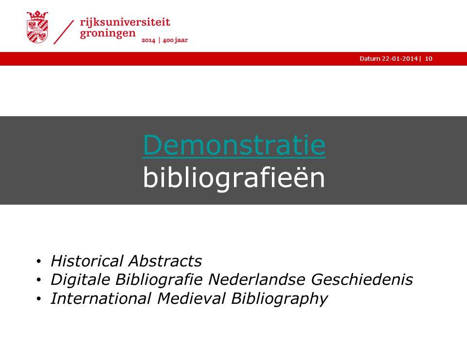 Demonstratie bibliografieën