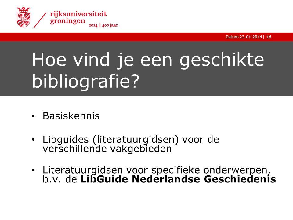Hoe vind je een geschikte bibliografie