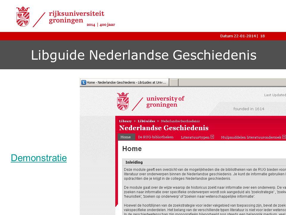 Libguide Nederlandse Geschiedenis