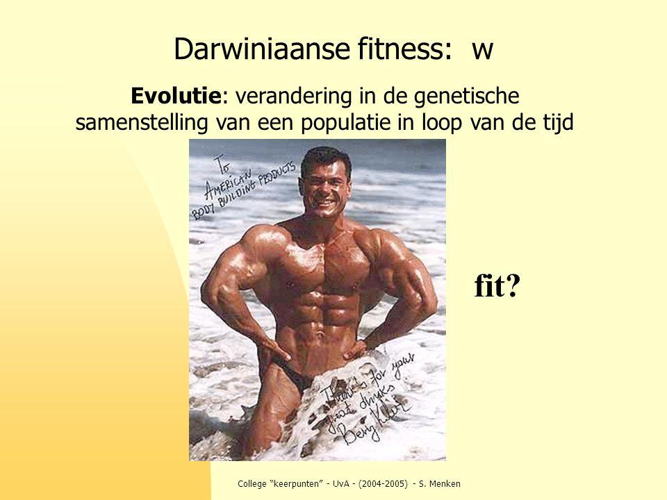 Darwiniaanse fitness: w