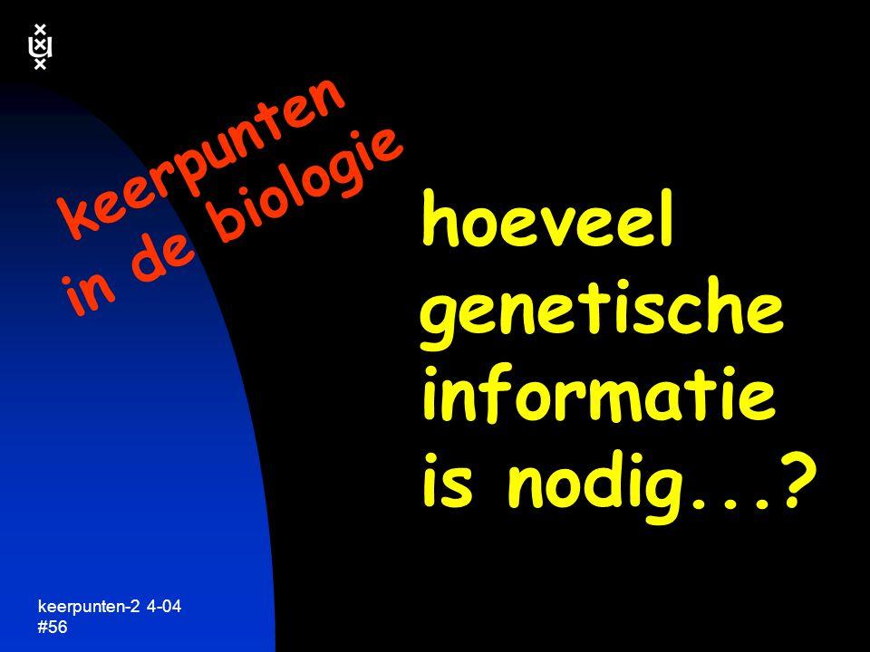 hoeveel genetische informatie is nodig...