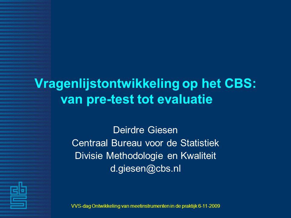 Vragenlijstontwikkeling op het CBS: van pre-test tot evaluatie