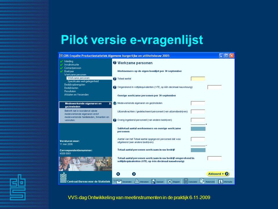 Pilot versie e-vragenlijst