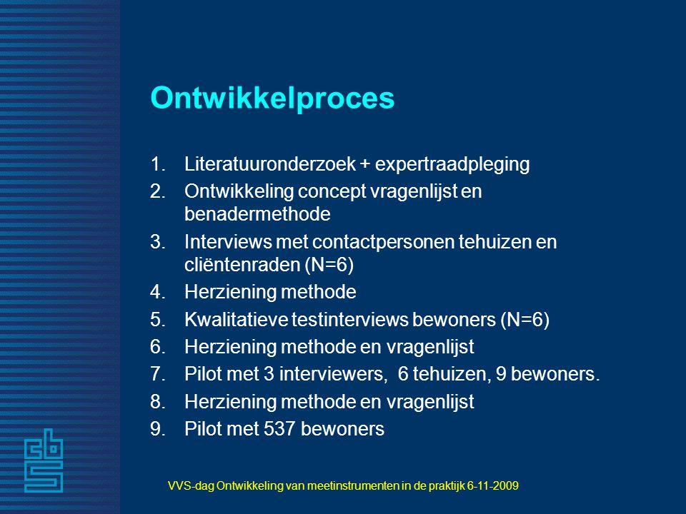 VVS-dag Ontwikkeling van meetinstrumenten in de praktijk 6-11-2009