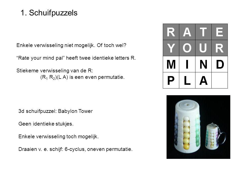 1. Schuifpuzzels Enkele verwisseling niet mogelijk. Of toch wel