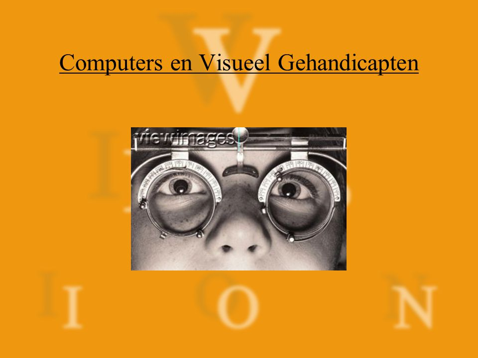 Computers en Visueel Gehandicapten