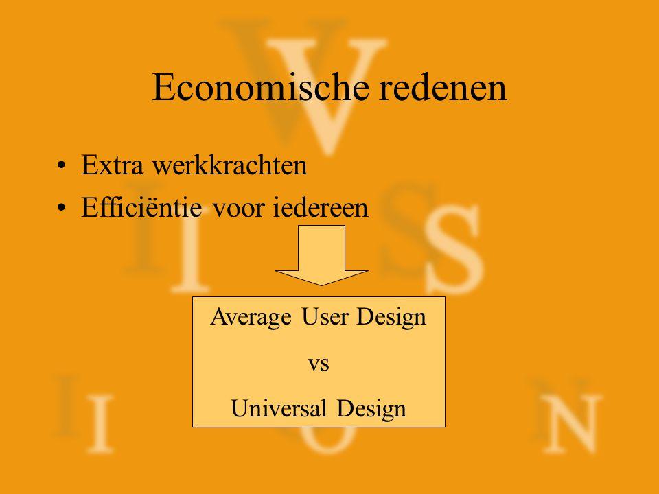 Economische redenen Extra werkkrachten Efficiëntie voor iedereen