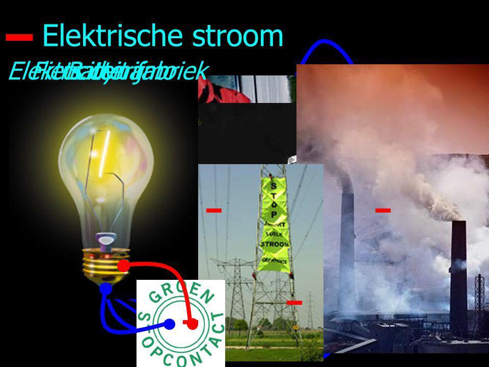 Elektrische stroom Elektriciteit fabriek Fiets dynamo Batterij