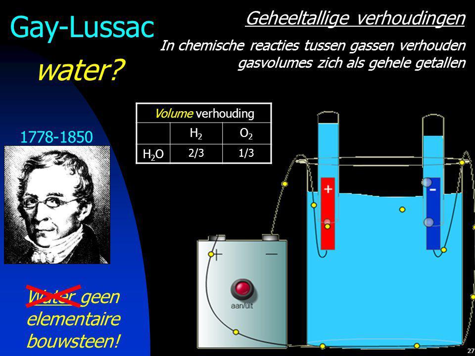 Water geen elementaire bouwsteen!