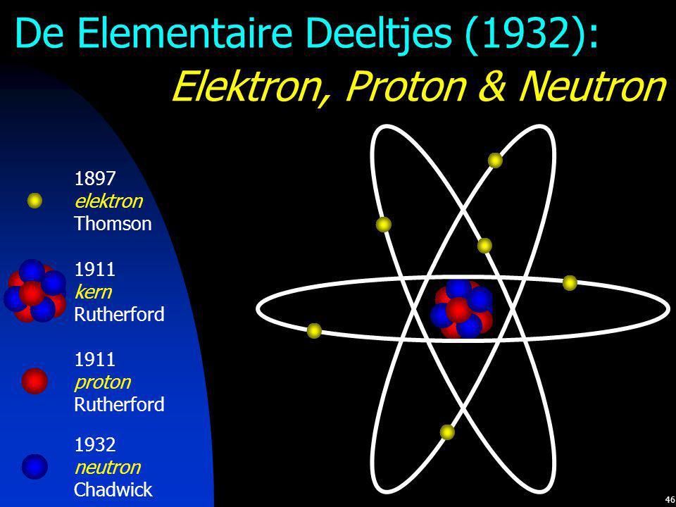De Elementaire Deeltjes (1932): Elektron, Proton & Neutron