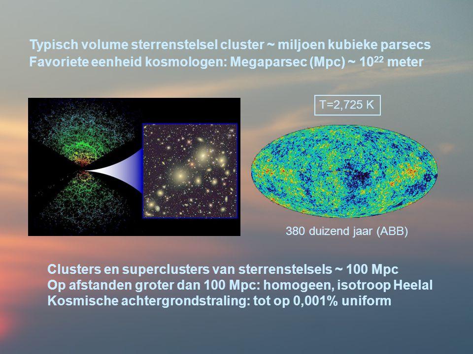 Typisch volume sterrenstelsel cluster ~ miljoen kubieke parsecs