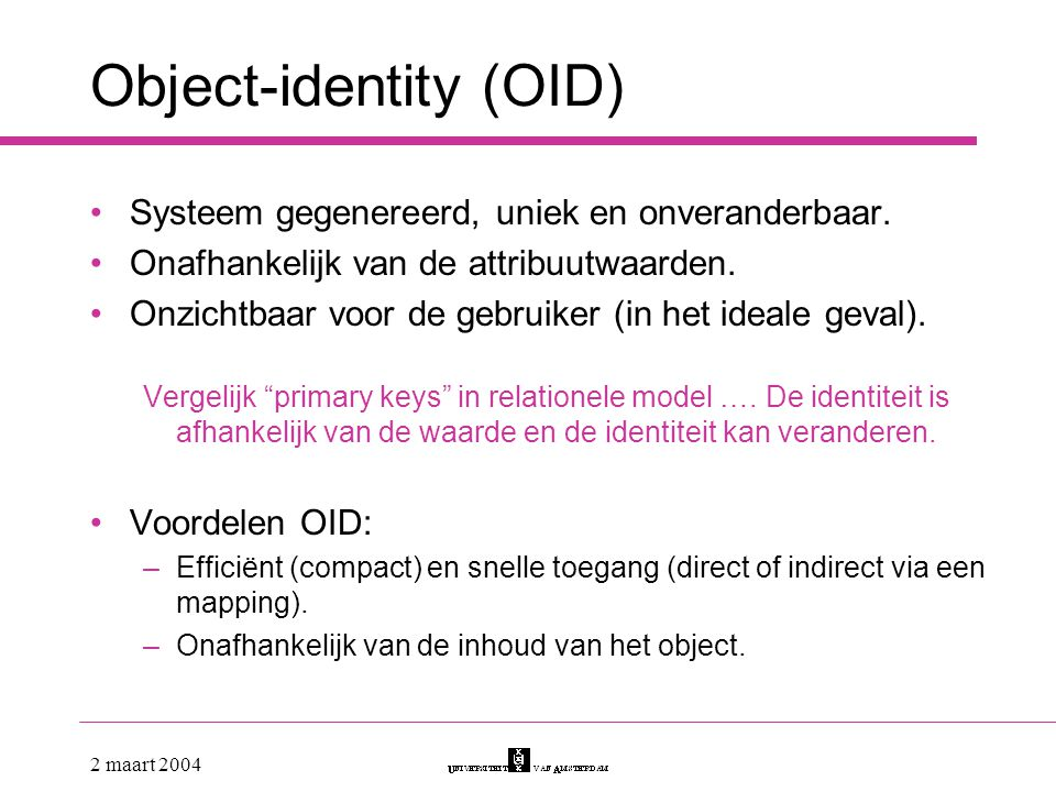 Object-identity (OID)