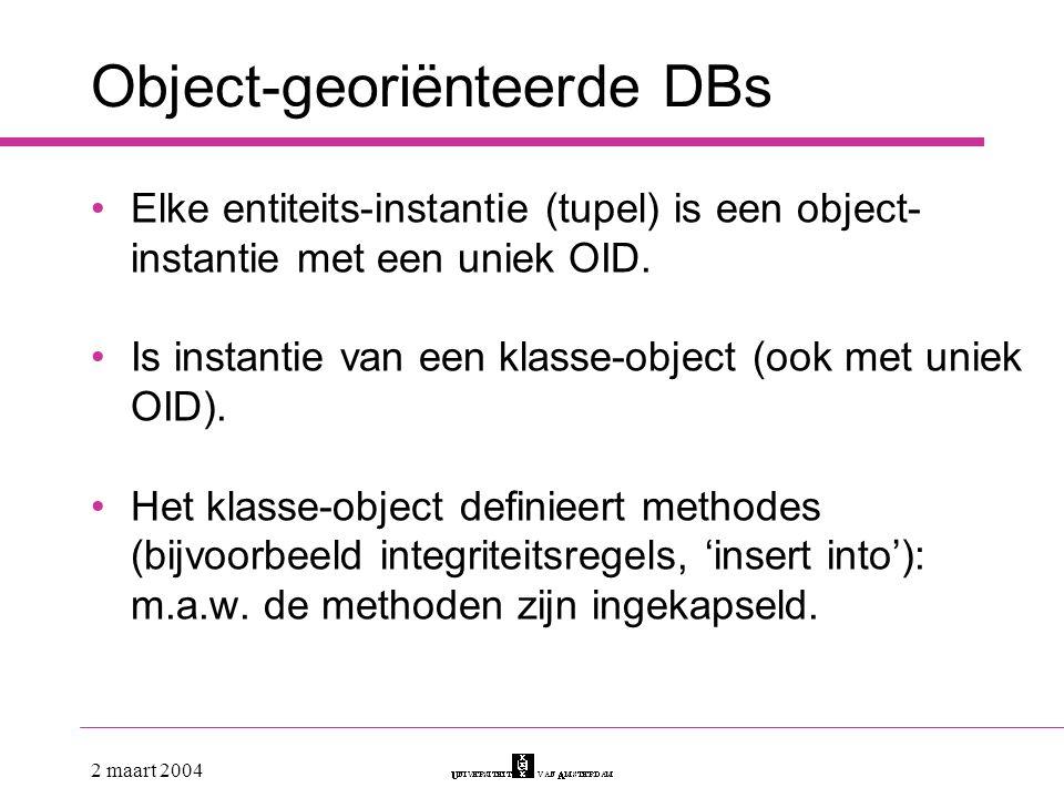 Object-georiënteerde DBs
