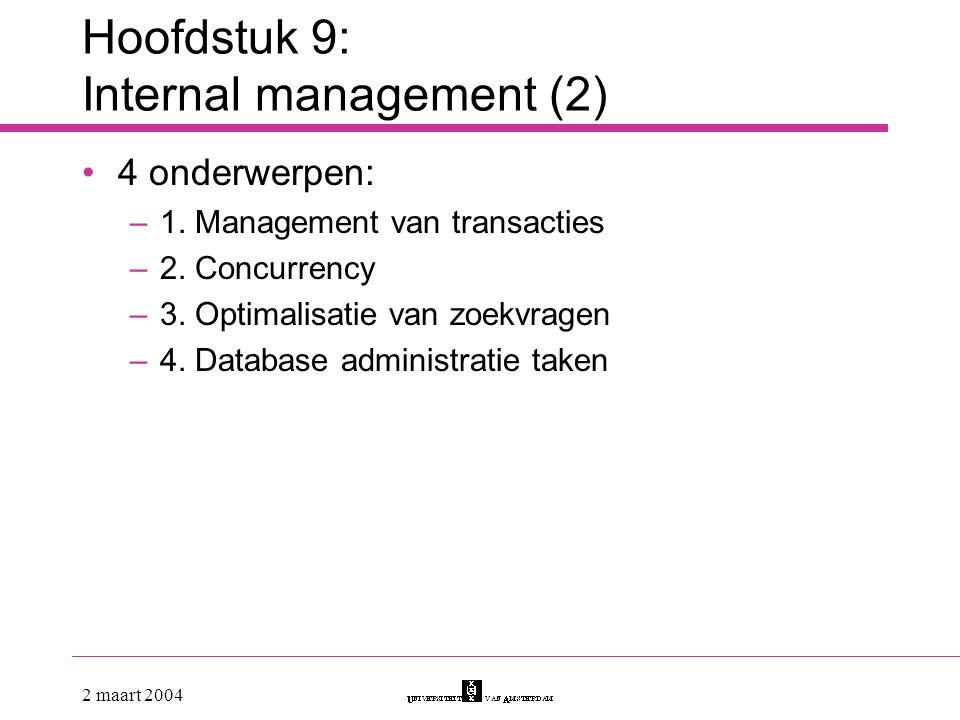 Hoofdstuk 9: Internal management (2)