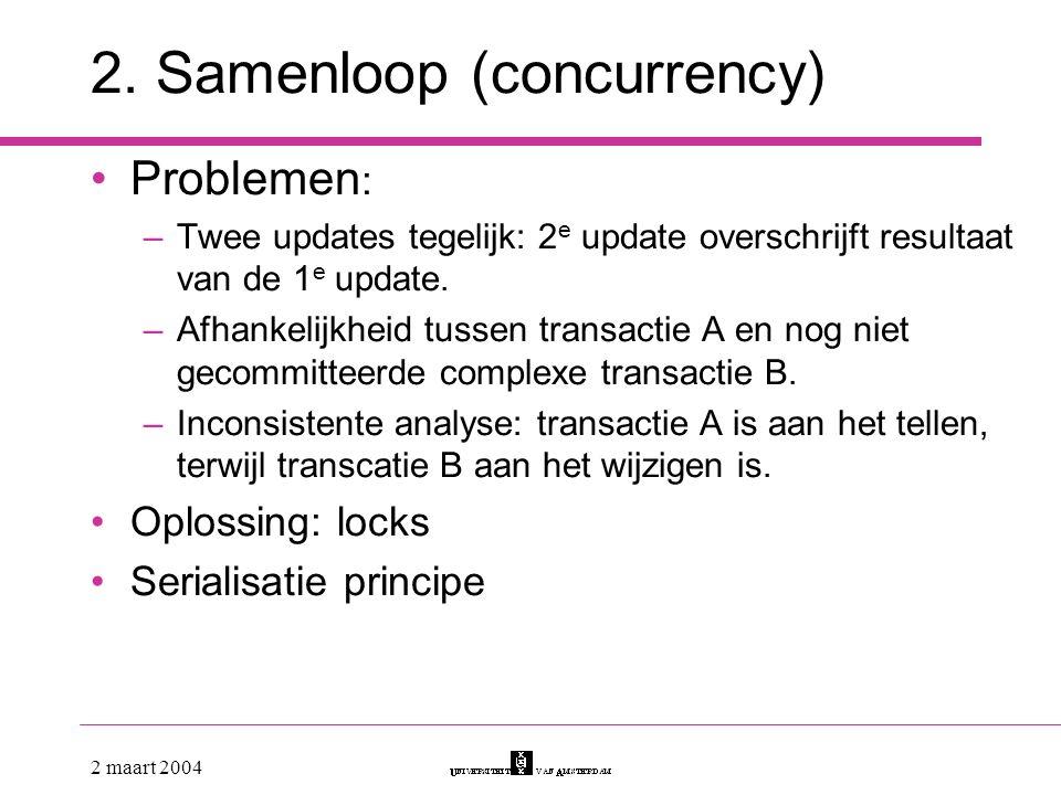 2. Samenloop (concurrency)