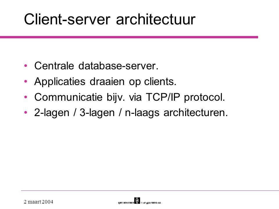 Client-server architectuur