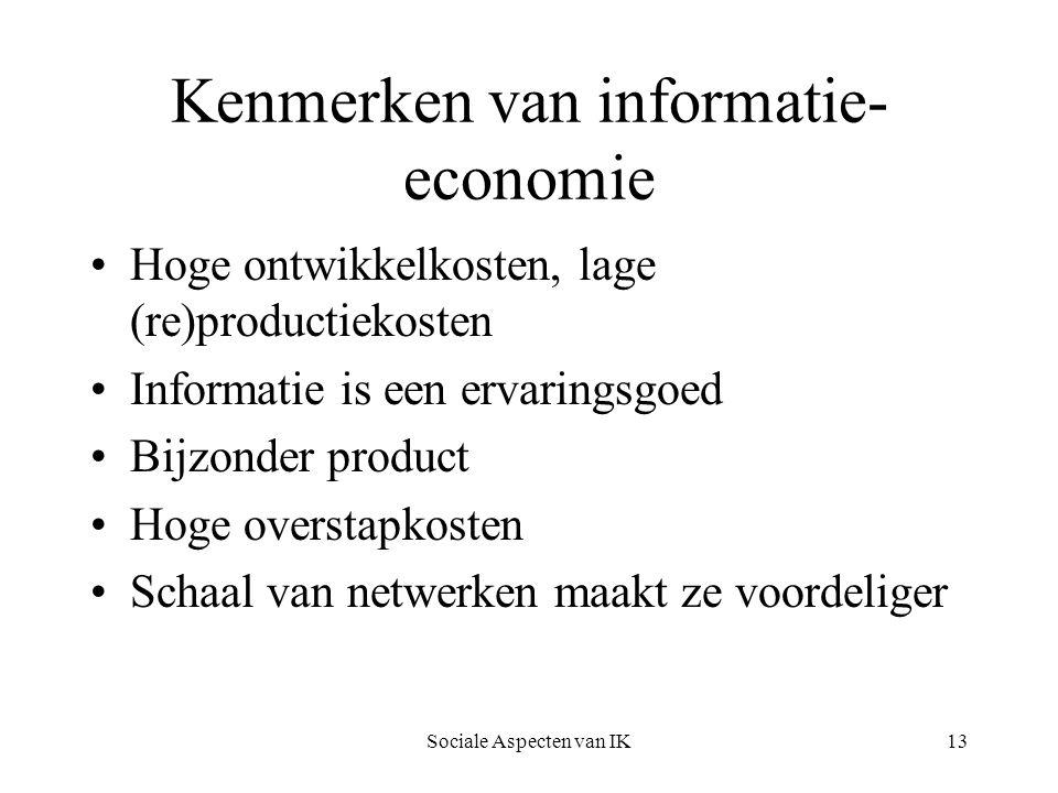 Kenmerken van informatie-economie