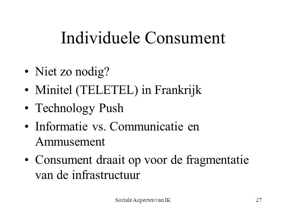 Individuele Consument