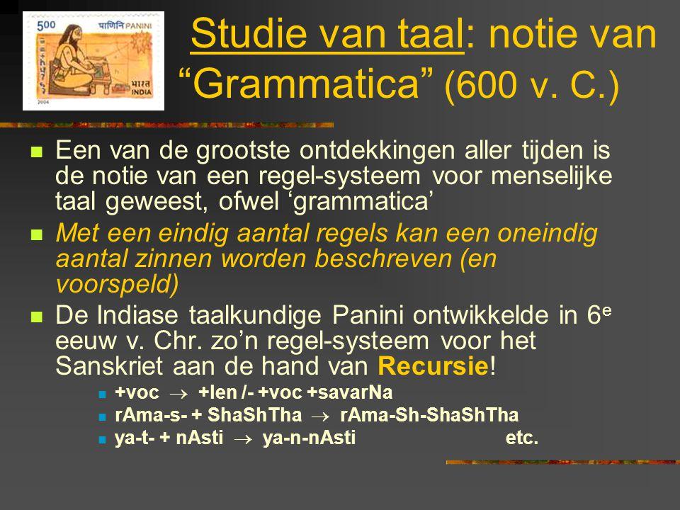Studie van taal: notie van Grammatica (600 v. C.)