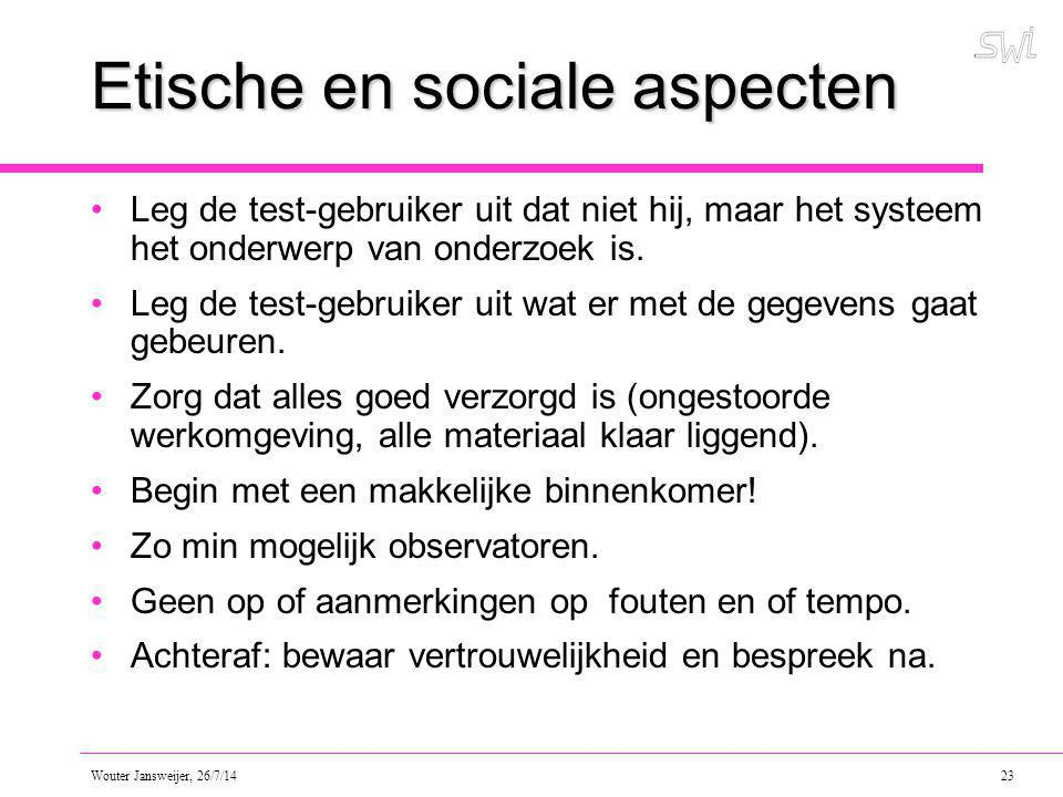 Etische en sociale aspecten