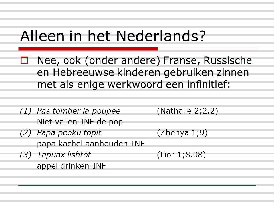 Alleen in het Nederlands