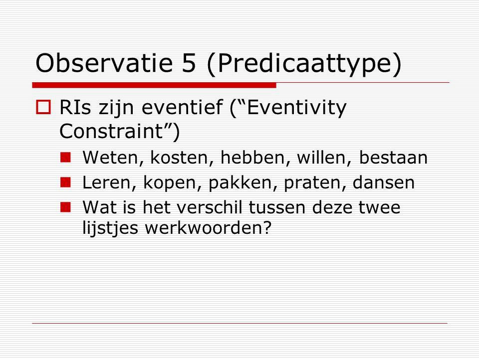 Observatie 5 (Predicaattype)