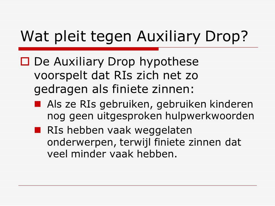 Wat pleit tegen Auxiliary Drop