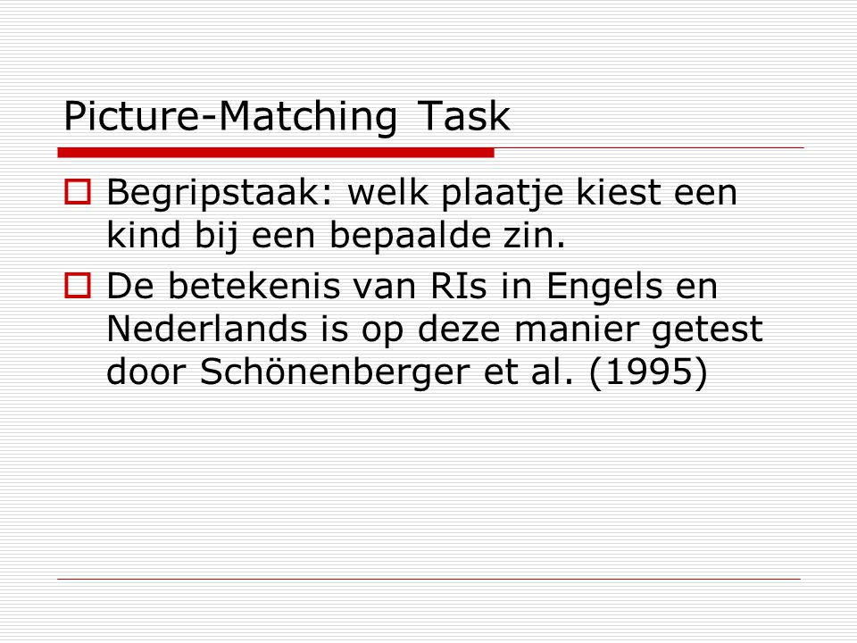 Picture-Matching Task