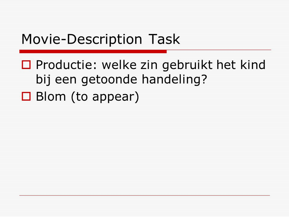 Movie-Description Task