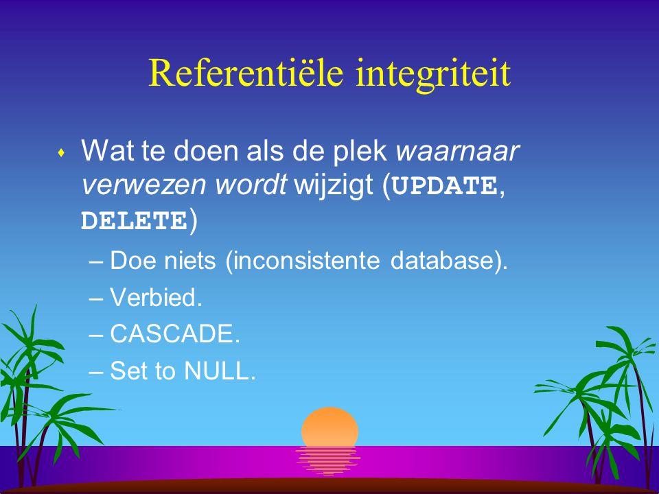 Referentiële integriteit