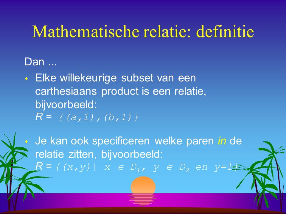 Mathematische relatie: definitie