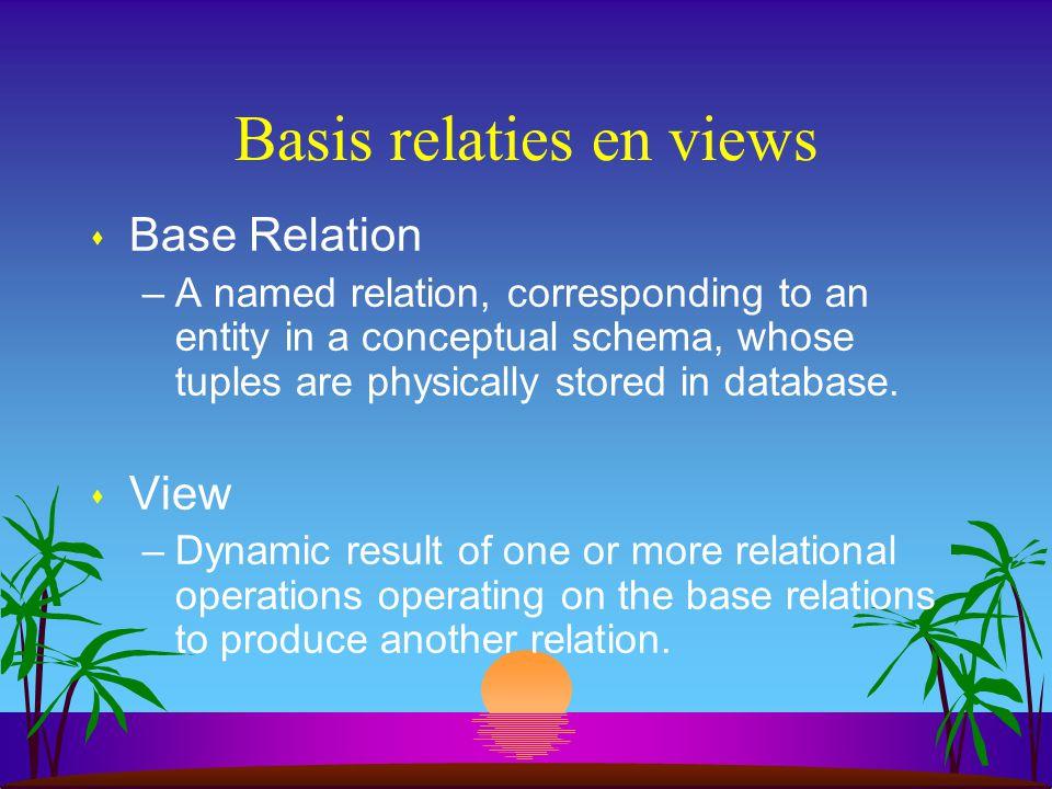 Basis relaties en views