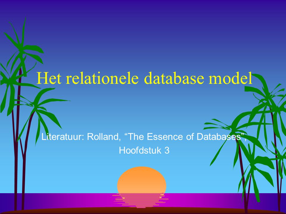 Het relationele database model