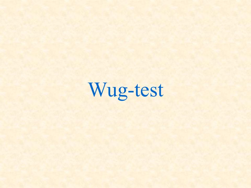 Wug-test