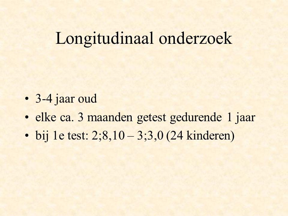 Longitudinaal onderzoek