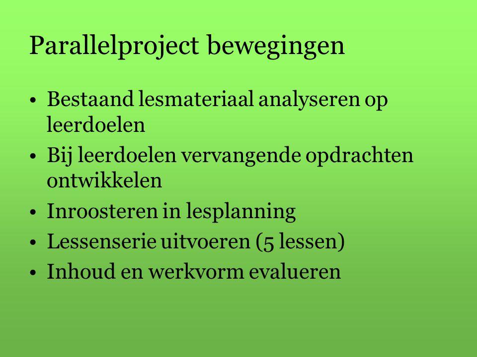 Parallelproject bewegingen