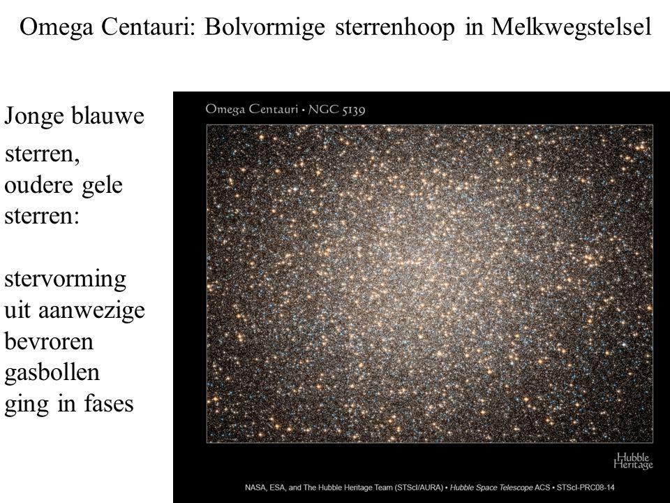 Omega Centauri: Bolvormige sterrenhoop in Melkwegstelsel