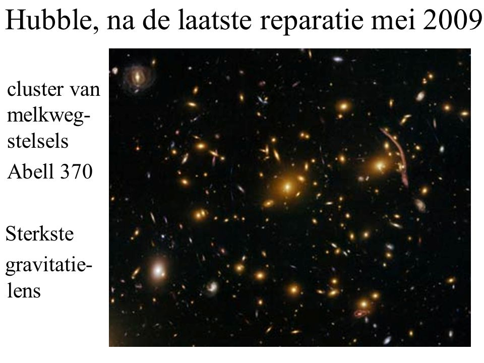 Hubble, na de laatste reparatie mei 2009