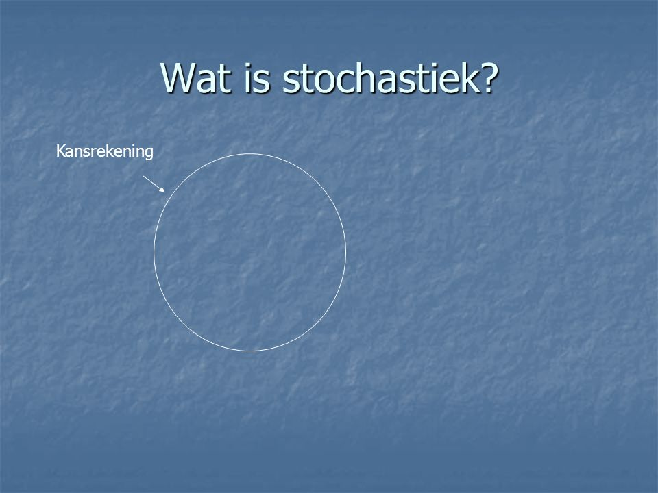 Wat is stochastiek Kansrekening