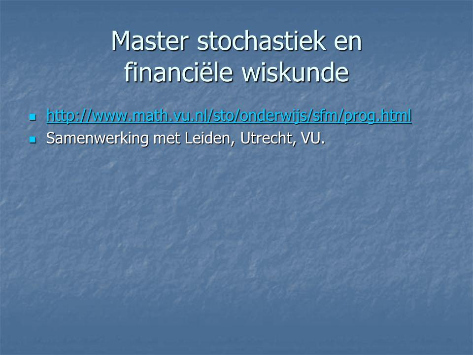 Master stochastiek en financiële wiskunde