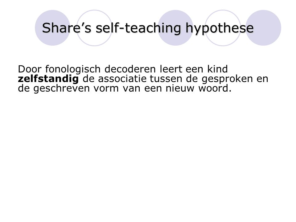 Share's self-teaching hypothese