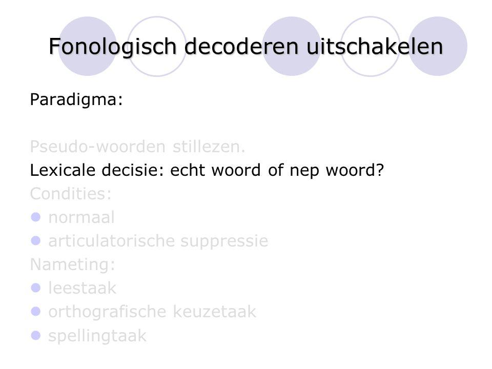 Fonologisch decoderen uitschakelen