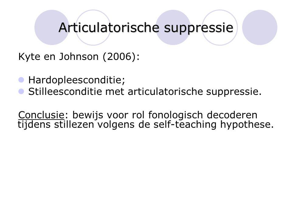Articulatorische suppressie