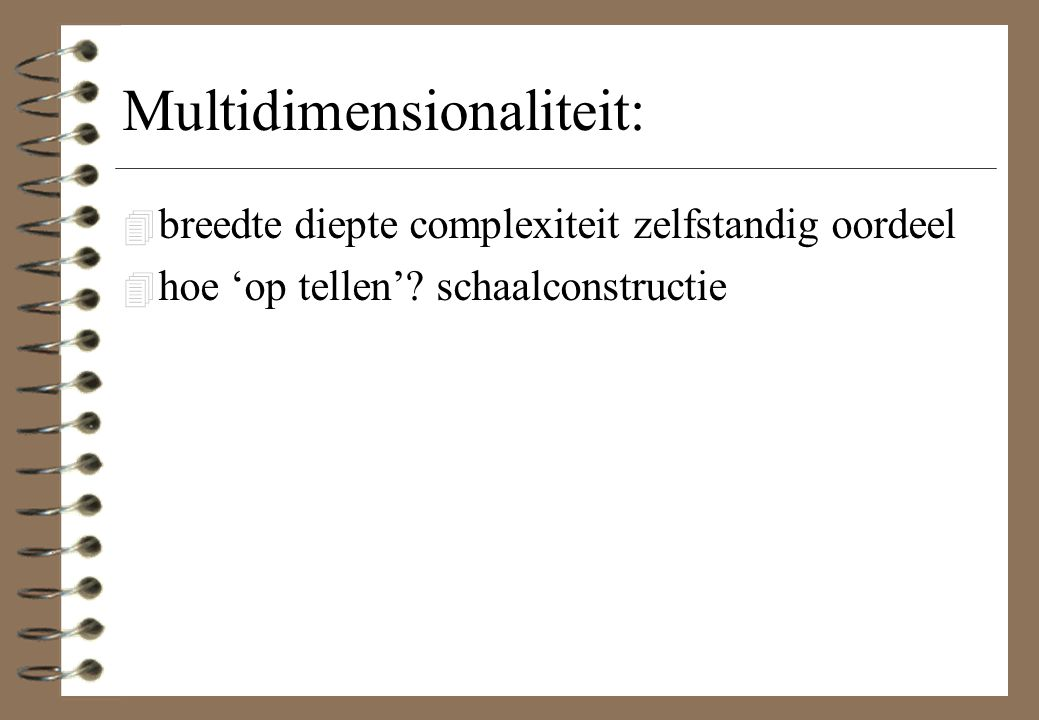 Multidimensionaliteit: