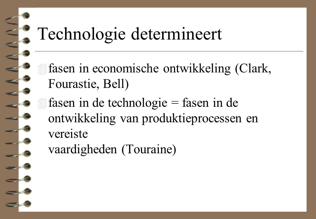 Technologie determineert