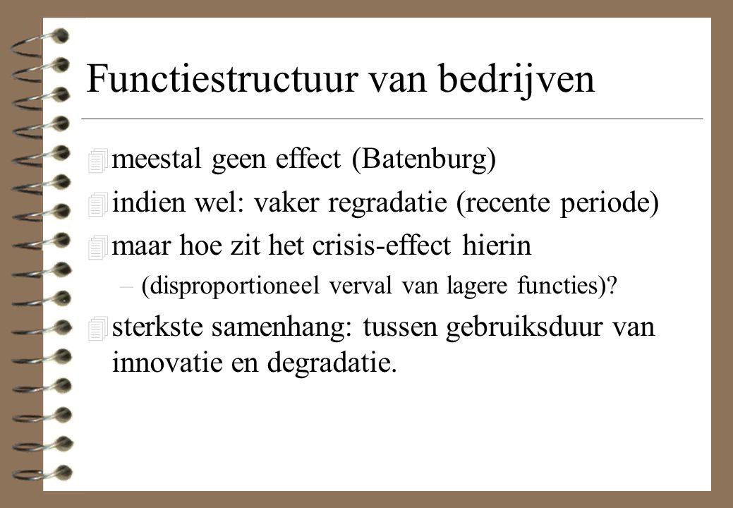 Functiestructuur van bedrijven