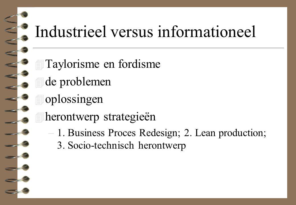 Industrieel versus informationeel