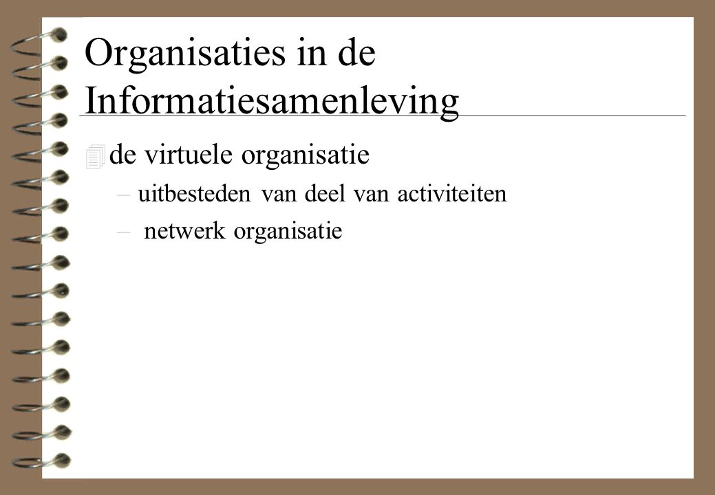 Organisaties in de Informatiesamenleving