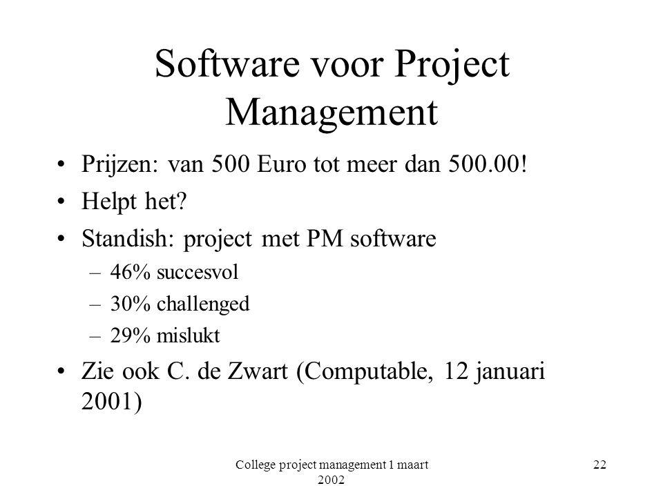 Software voor Project Management