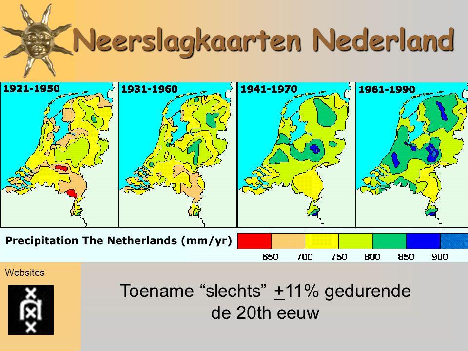 Neerslagkaarten Nederland